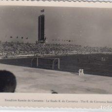 Coleccionismo deportivo: MUY RARA POSTAL TROFEO R. DE CARRANZA (CÁDIZ) ANTIGUA TORRE DE PREFERENCIA POSIBLE INAUGURACIÓN 1955. Lote 177744707