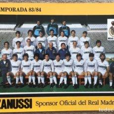 Coleccionismo deportivo: TARJETA DEL REAL MADRID CLUB DE FÚTBOL 83 - 84 (1983 - 1984) - PUBLICIDAD ZANUSSI. Lote 178112335