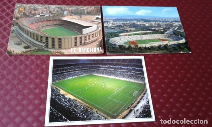POSTALES ESTADIO ROMA .F.C. BARCELONA Y REGALO SANTIAGO BERNABEU (Coleccionismo Deportivo - Postales de Deportes - Fútbol)
