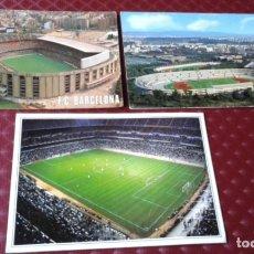 Coleccionismo deportivo: POSTALES ESTADIO ROMA .F.C. BARCELONA Y REGALO SANTIAGO BERNABEU . Lote 178153254