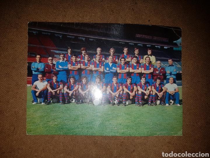 POSTAL F. C. BARCELONA AÑOS 70. CRUYFF SOTIL (Coleccionismo Deportivo - Postales de Deportes - Fútbol)