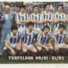 Coleccionismo deportivo: CALENDARIO REAL SOCIEDAD TXAPELDUN 80-81 / 81-82 SAN SEBASTIAN DONOSTI. Lote 180230880
