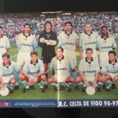 Coleccionismo deportivo: FÚTBOL POSTER DON BALÓN CELTA DE VIGO 96-97 - AS MARCA SPORT MUNDO DEPORTIVO CROMO ALBUM. Lote 182064195