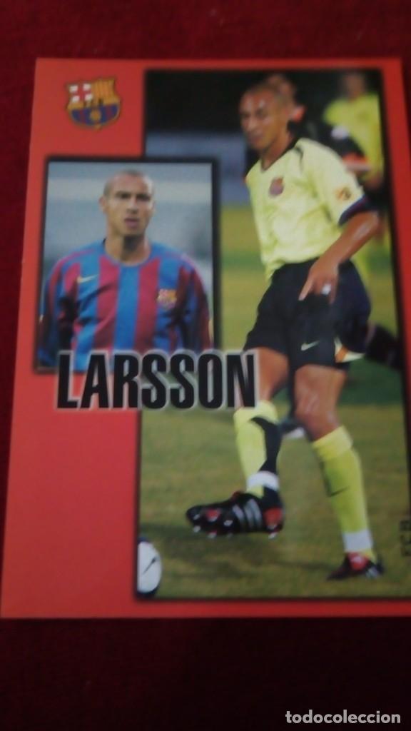 LARSSON FCB (Coleccionismo Deportivo - Postales de Deportes - Fútbol)
