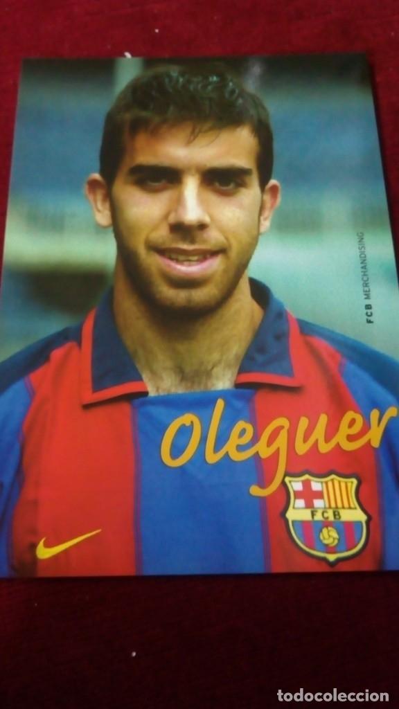 OLEGUER FCB (Coleccionismo Deportivo - Postales de Deportes - Fútbol)