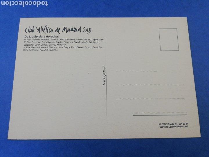 Coleccionismo deportivo: POSTAL ATLETICO DE MADRID PLANTILLA EQUIPO TEMPORADA 95-96 1995 1996 - Foto 2 - 183015742