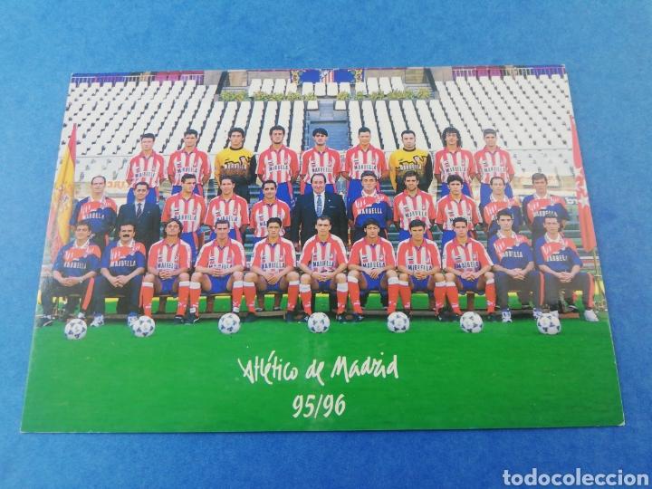 POSTAL ATLETICO DE MADRID PLANTILLA EQUIPO TEMPORADA 95-96 1995 1996 (Coleccionismo Deportivo - Postales de Deportes - Fútbol)