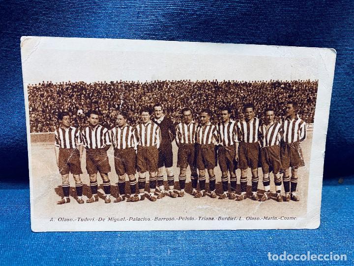 TARJETA POSTAL ATHLETIC CLUB TEMPORADA 1925 1926 HOMENAJE AL EQUIPO (Coleccionismo Deportivo - Postales de Deportes - Fútbol)
