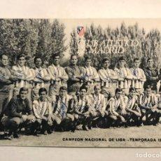 Coleccionismo deportivo: FÚTBOL. CLUB ATLÉTICO DE MADRID, FIRMADA, CAMPEÓN NACIONAL DE LIGA TEMPORADA 1965-66. Lote 187541590