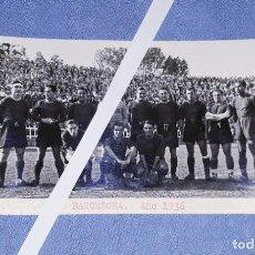 Coleccionismo deportivo: ANTIGUA FOTO POSTAL DE FUTBOL BARCELONA AÑO 1936 EN EXCELENTE ESTADO ORIGINAL. Lote 187605978