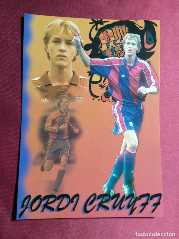 TARJETA POSTAL. JORDI CRUYFF JUGADOR DEL FUTBOL CLUB BARCELONA. (Coleccionismo Deportivo - Postales de Deportes - Fútbol)