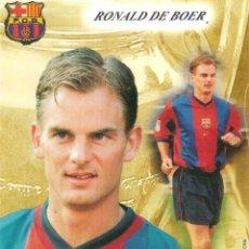 Coleccionismo deportivo: POSTAL RONALD DE BOER FC BARCELONA. Lote 189763908