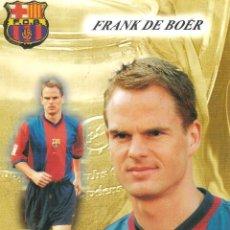 Coleccionismo deportivo: POSTAL FRANK DE BOER FC BARCELONA. Lote 189764507
