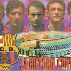 Coleccionismo deportivo: POSTAL PROSINECKI FIGO CUELLAR POPESCU KODRO FC BARCELONA. Lote 189833891