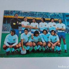 Collectionnisme sportif: RESERVADO. POSTALES TARJE FHER Nº 14 Y 5 REAL ZARAGOZA Y MALAGA. 1976. Lote 189993860