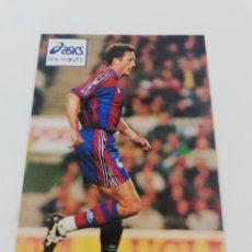 Coleccionismo deportivo: POSTAL GICA POPESCU FC BARCELONA BARÇA PUBLICIDAD ASICS. Lote 190466950