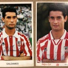 Coleccionismo deportivo: JOSÉ MANUEL GALDAMES (ATHLETIC CLUB BILBAO). 2 FOTOGRAFÍA OFICIALES TEMPORADAS 94/95-95/96. Lote 191127038