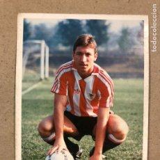 Coleccionismo deportivo: PATXI RIPODAS (ATHLETIC CLUB BILBAO). FOTOGRAFÍA OFICIAL CON AUTÓGRAFO TEMPORADA 1989/90.. Lote 191127383