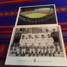Coleccionismo deportivo: POSTAL PLANTILLA REAL MADRID CAMPEÓN DE LIGA 1962 1963 CON FIRMAS. REGALO FOTO ESTADIO BERNABÉU. BE.. Lote 191146097