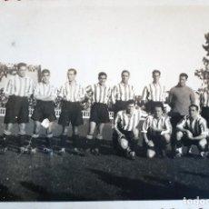 Coleccionismo deportivo: FOTOGRAFIA FUTBOL FOTO PEQUEÑA PLANTILLA DEL BILBAO 1935 1936 ORIGINAL FF7. Lote 191185362