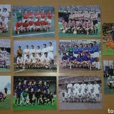 Coleccionismo deportivo: 11 POSTALES ALINEACION FUTBOL PERFECTO ESTADO, REAL MADRID, ESPAÑA FC BARCELONA REAL BETIS SEVILLA. Lote 191225345