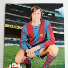 Collectionnisme sportif: FOTO POSTAL FUTBOL. JOHAN CRUYFF - FC BARCELONA. ANTIGUA 1974. HORACIO SEGUI. SIN CIRCULAR. FIRMA. Lote 191276865