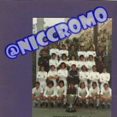 Coleccionismo deportivo: POSTAL PLANTILLA REAL MADRID CF TEMPORADA 1974 1975 CON 28 FIRMAS ORIGINALES 20X15 CMS NICCROMO. Lote 191959230
