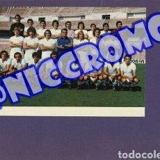 Coleccionismo deportivo: POSTAL PLANTILLA REAL MADRID CF TEMPORADA 1974 1975 ORIGINALES 20X15 CMS NICCROMO. Lote 191959707