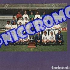 Coleccionismo deportivo: POSTAL PLANTILLA REAL MADRID CF TEMPORADA 1977 1978 FUTBOL ORIGINALES 20X15 CMS NICCROMO. Lote 191960423
