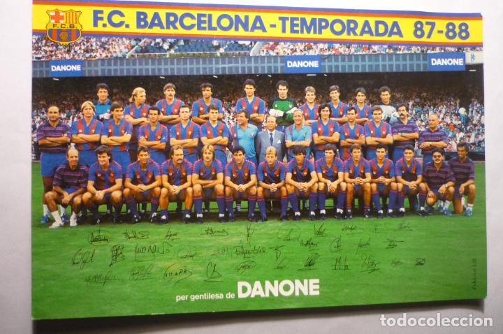TARJETA FUTBOL F.C. BARCELONA-TEMPORADA 87-88 PLANTILLA (Coleccionismo Deportivo - Postales de Deportes - Fútbol)