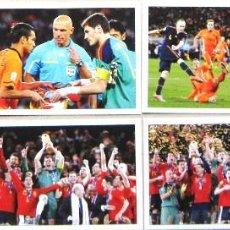 Coleccionismo deportivo: SET 6 POSTALES ESPAÑA CAMPEON MUNDIAL 2010 COMPLETA POSTAL FUTBOL POSTCARDS CARDS R41. Lote 192903462