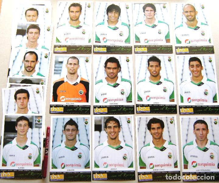 SET 27 POSTALES RACING SANTANDER 2007-08 CANTABRIA POSTAL OFICIAL FUTBOL POSTCARDS CARDS R26 (Coleccionismo Deportivo - Postales de Deportes - Fútbol)
