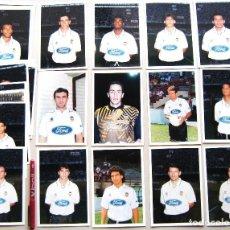 Coleccionismo deportivo: SET 25 FOTOS VALENCIA CF 1996-97 ORIGINALES POR VCF Y OFICIALES 10X15 FUTBOL PICTURES CARDS R35. Lote 192905533