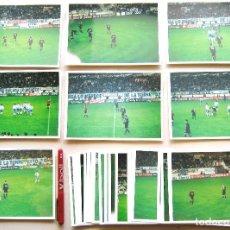 Coleccionismo deportivo: SET 34 FOTOS MALAGA CF – REAL MADRID DE LIGA 2002-03 ORIGINALES 19X13.5 FUTBOL PICTURES CARD R66. Lote 192905760