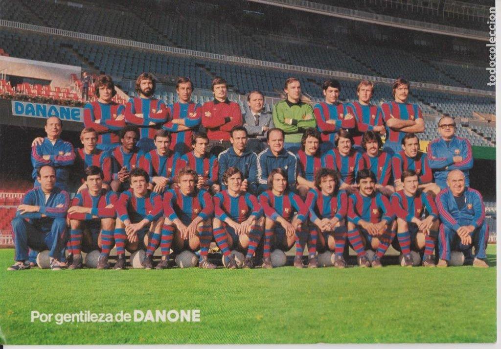 DANONE -- F.C. BARCELONA 1978 / 1979 (Coleccionismo Deportivo - Postales de Deportes - Fútbol)