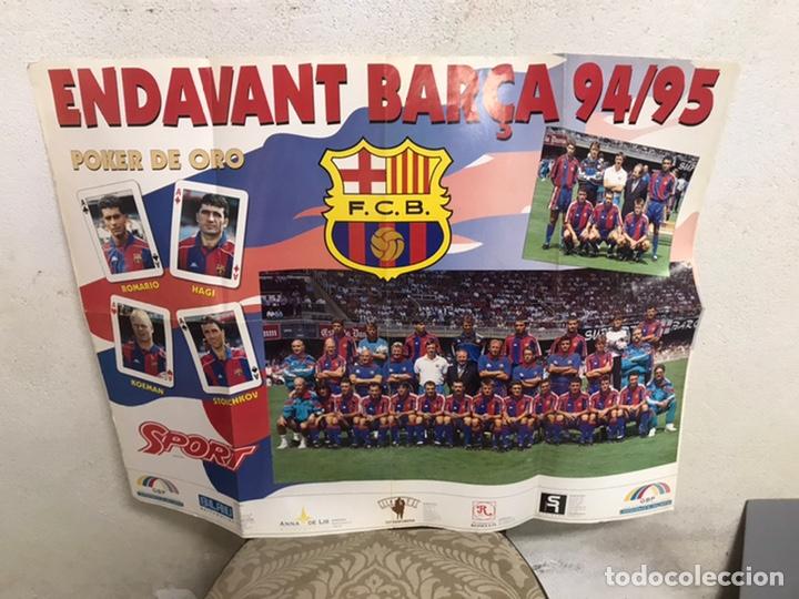 Coleccionismo deportivo: Póster del Barça año 1994/95 - Foto 2 - 194310025