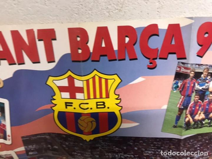 Coleccionismo deportivo: Póster del Barça año 1994/95 - Foto 4 - 194310025