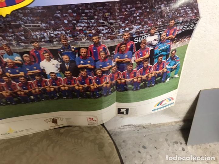 Coleccionismo deportivo: Póster del Barça año 1994/95 - Foto 6 - 194310025