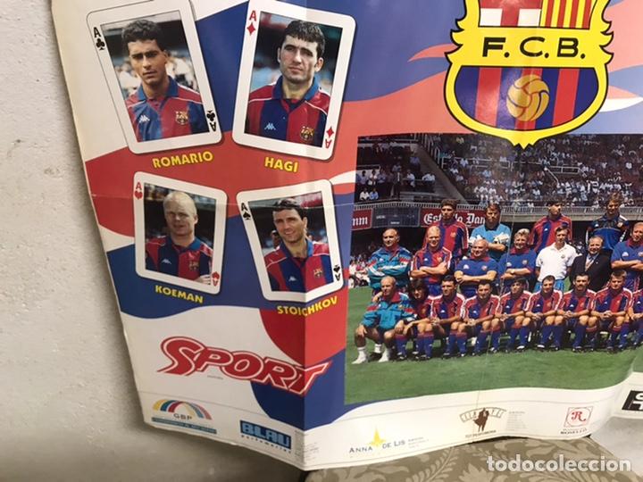 Coleccionismo deportivo: Póster del Barça año 1994/95 - Foto 8 - 194310025