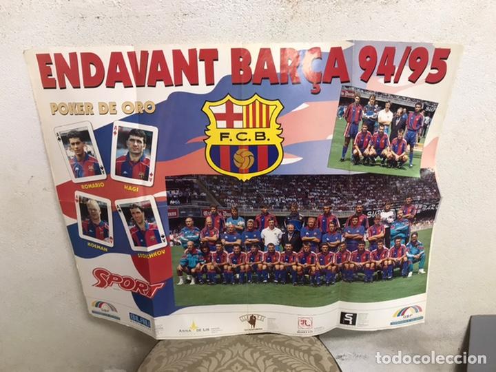 PÓSTER DEL BARÇA AÑO 1994/95 (Coleccionismo Deportivo - Postales de Deportes - Fútbol)