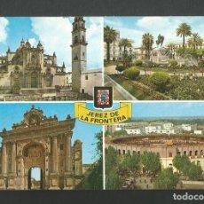 Coleccionismo deportivo: POSTAL SIN CIRCULAR - JEREZ DE LA FRONTERA 62 - DIVERSOS ASPECTOS - EDITA ESCUDO DE ORO. Lote 194549767