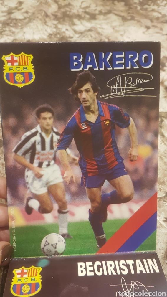Coleccionismo deportivo: Postales firmadas jugadores Barça año 1992 - Foto 2 - 194640077