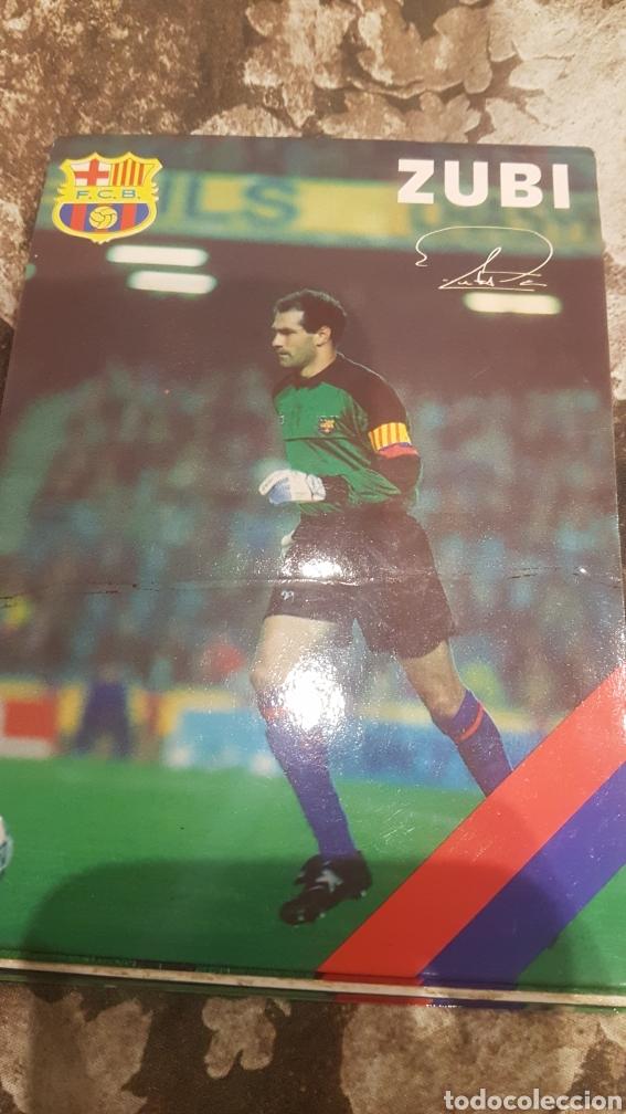 Coleccionismo deportivo: Postales firmadas jugadores Barça año 1992 - Foto 3 - 194640077
