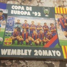 Coleccionismo deportivo: POSTALES FIRMADAS JUGADORES BARÇA AÑO 1992. Lote 194640077