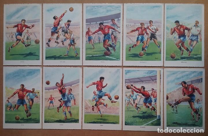 FÚTBOL MUNDIAL BRASIL 1950 ASES DEL BALÓN ESPAÑA POSTAL COLECCIÓN COMPLETA (Coleccionismo Deportivo - Postales de Deportes - Fútbol)
