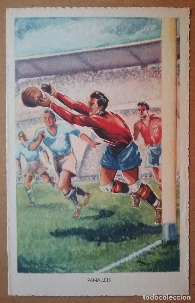 Coleccionismo deportivo: FÚTBOL MUNDIAL BRASIL 1950 ASES DEL BALÓN ESPAÑA POSTAL COLECCIÓN COMPLETA - Foto 2 - 194694688