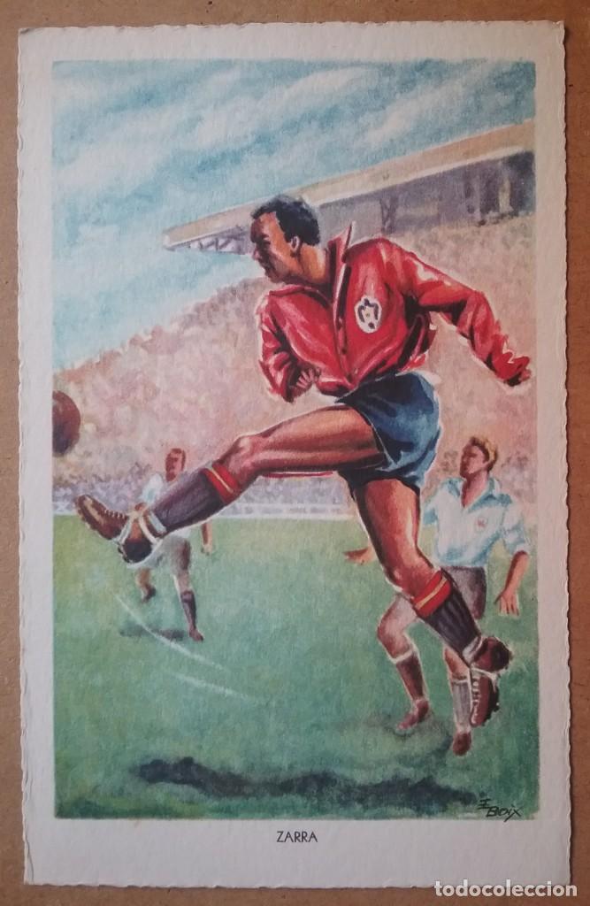 Coleccionismo deportivo: FÚTBOL MUNDIAL BRASIL 1950 ASES DEL BALÓN ESPAÑA POSTAL COLECCIÓN COMPLETA - Foto 3 - 194694688