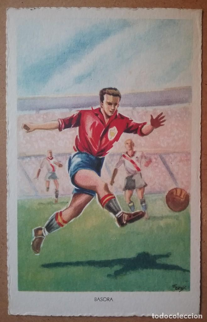Coleccionismo deportivo: FÚTBOL MUNDIAL BRASIL 1950 ASES DEL BALÓN ESPAÑA POSTAL COLECCIÓN COMPLETA - Foto 4 - 194694688