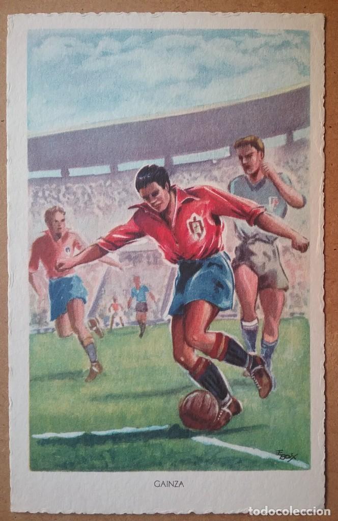 Coleccionismo deportivo: FÚTBOL MUNDIAL BRASIL 1950 ASES DEL BALÓN ESPAÑA POSTAL COLECCIÓN COMPLETA - Foto 5 - 194694688