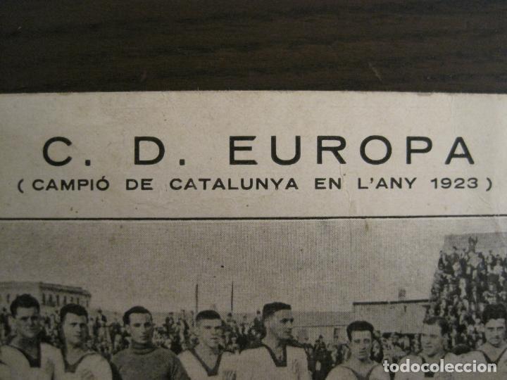 Coleccionismo deportivo: C.D. EUROPA-CAMPIO DE CATALUNYA ANY 1923-EQUIPO EN EL CAMPO-POSTAL DE FUTBOL ANTIGUA-(67.916) - Foto 2 - 194731838